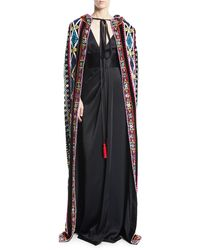 Naeem Khan - Tie-neck Embroidered Cape - Lyst