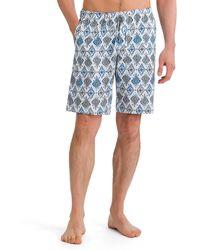 Hanro - River Geometric-print Woven Shorts - Lyst