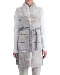 Gorski - Wool Vest W/ Panelled Fur Trim - Lyst