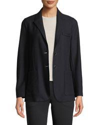 Giorgio Armani - Two-button Wool Sweater Jacket - Lyst
