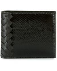 595edc25a1a5 Bottega Veneta - Intrecciato Leather & Snakeskin Wallet - Lyst