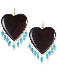 Ashley Pittman - Landa Heart & Dangle Earrings - Lyst