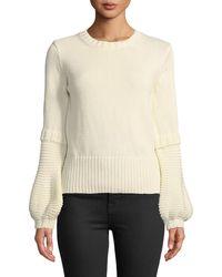 M.i.h Jeans - Leeson Balloon-sleeve Cotton Sweater - Lyst