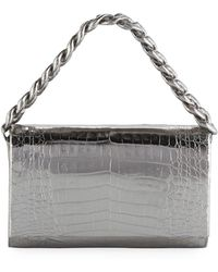 Nancy Gonzalez - Convertible Metallic Crocodile Chain-trim Flap Bag - Lyst