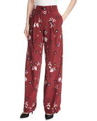 Valentino - Floral-print Pajama Pants - Lyst