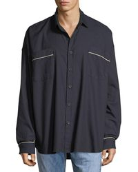 Fear Of God - Men's Contrast-piping Oversized Shirt - Lyst