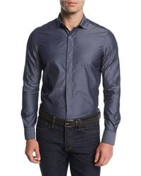 Berluti - Chambray Concealed-placket Shirt - Lyst