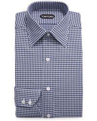 Tom Ford - Optical Check Dress Shirt - Lyst