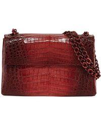 Nancy Gonzalez - Madison Colorblock Croc Double-chain Shoulder Bag - Lyst