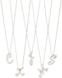 Roberto Coin - Diamond Initial Necklace - Lyst