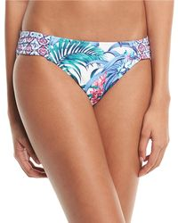 Tommy Bahama - Marjorelle Side-shirred Hipster Swim Bikini Bottoms - Lyst