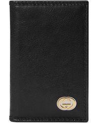Gucci - Men's Bi-fold Leather Card Case - Lyst