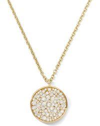Ippolita - Stardust 18k Diamond Disc Pendant Necklace - Lyst