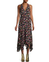 A.L.C. - Roslyn Hearts Silk Sleeveless Midi Dress - Lyst