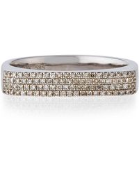 EF Collection - 14k Gold Jumbo Bar Ring With Diamonds - Lyst
