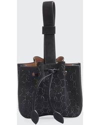 Alaïa Rose-marie Mini Suede Bucket Bag - Black