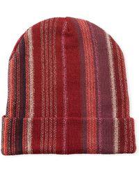 Missoni - Wool-blend Metallic Striped Knit Hat - Lyst