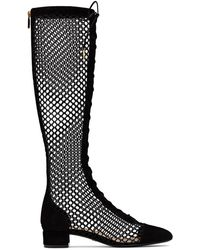 Dior - Naughtily-d Suede & Mesh Lace-up Boot - Lyst