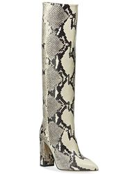 Paris Texas Snakeskin Effect Knee-high Boots - Multicolour