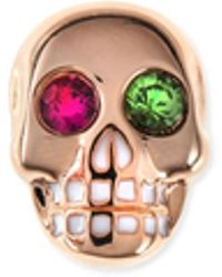 Sydney Evan - 14k Rose Gold Gemstone Skull Single Stud Earring - Lyst