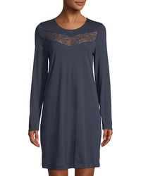 Hanro - Liv Long-sleeve Short Nightgown - Lyst