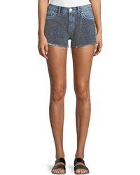 Hudson Jeans - Kenzie Studded Cutoff Denim Shorts - Lyst