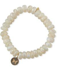 Sydney Evan - 14k Moonstone & Diamond Butterfly Bracelet - Lyst