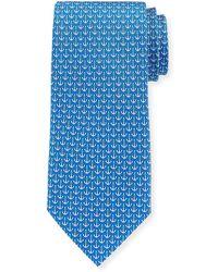 Ferragamo - Anchors Silk Tie - Lyst