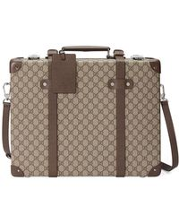54d61131ac8f Gucci Rainbow Strap Gg Briefcase in Natural for Men - Lyst