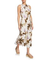 36e6484b9d8ca Mara Hoffman Raffaella Striped V-neck Drop Waist Organic Cotton Maxi ...