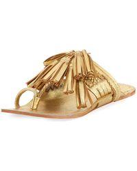 Figue - Scaramouche Flat Metallic Slide Sandal - Lyst