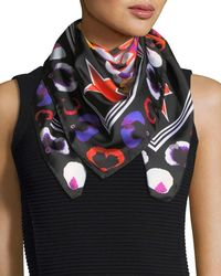 Givenchy - 74 & Flowers Silk Swill Square Scarf - Lyst