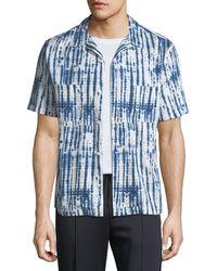 Vince - Shibori Printed Cabana Short Sleeve - Lyst