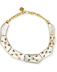 Ashley Pittman - Malkia Light Horn & Crystal Collar Necklace - Lyst