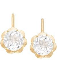 Jamie Wolf - Petite Scallop Drop Earrings In White Topaz - Lyst
