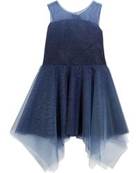 Zoe - Ombre Shimmer Tulle Sleeveless Dress - Lyst
