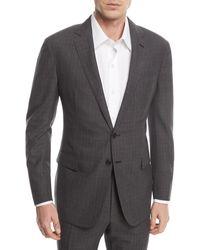 Ralph Lauren Two-piece Glen Plaid Wool Suit - Grey