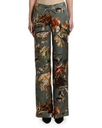 Off-White c/o Virgil Abloh Floral Pyjama Trousers - Green