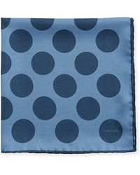 Tom Ford - Dotted Silk Pocket Square - Lyst