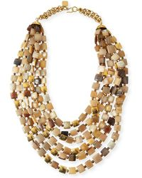 Ashley Pittman - Kila Light Horn Multi-strand Necklace - Lyst