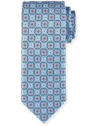 Brioni - Woven Boxes Silk Tie - Lyst