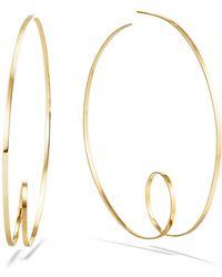 Lana Jewelry - 14k Curly-shaped Hoop Earrings - Lyst