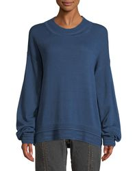 Elizabeth and James - Hensley Rib-trim Cotton Pullover Sweater - Lyst