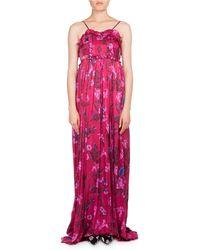Balenciaga - Ruffled Floral-print Summer Gown - Lyst