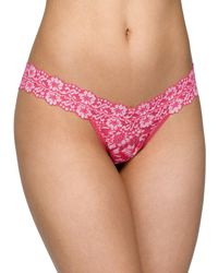 b138dbe6e94a Hanky Panky Low-Rise Wrapped Lace Thong in Orange - Lyst