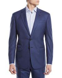 Giorgio Armani - Men's Two-piece Herringbone Super 180s Wool Suit - Lyst
