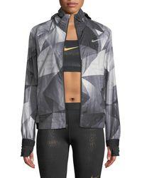 Nike Shield Flash Convertible Running Jacket - Black