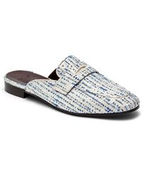 Bougeotte Flaneur Flat Tweed Mules - Multicolor