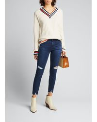 J Brand - 835 Mid-rise Cropped Skinny Jeans - Lyst