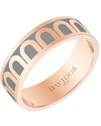 Davidor L'arc De 18k Rose Gold Ring - Med. Model - Metallic